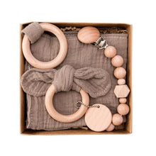Load image into Gallery viewer, Baby Wooden Rattle Gift Set