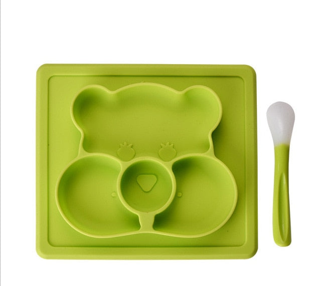 Silicon Children Feeding Mat With Spoon Set
