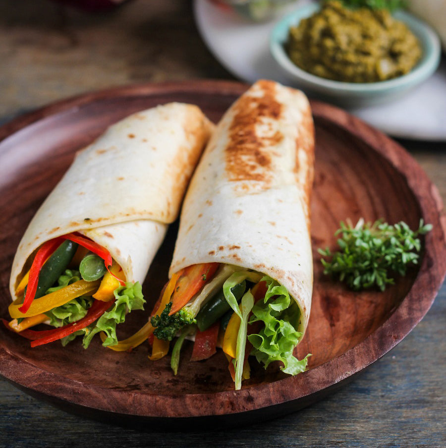 Healthy Hariyali veg wrap
