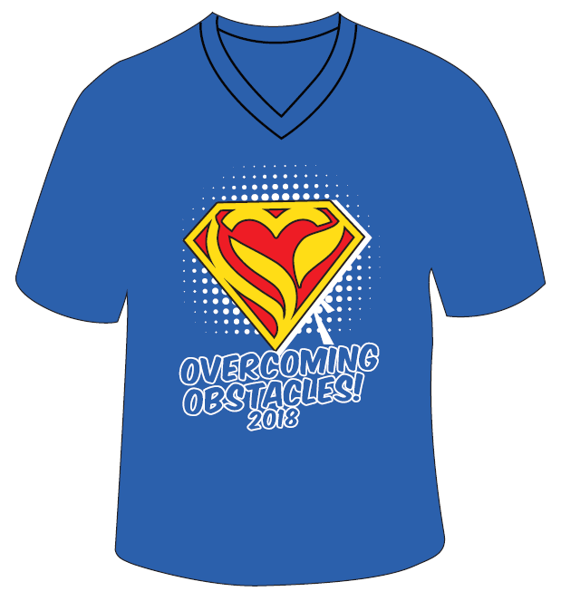 Overcoming Obstacles shirt blue