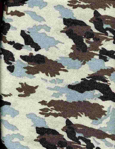 F2398-AN3432 ARMY/SAGE FRENCH TERRY PRINTS