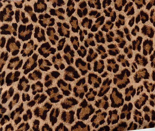 S2554-AN50507 C1 STONE/BLK ANIMAL SATIN WOVEN PRINT