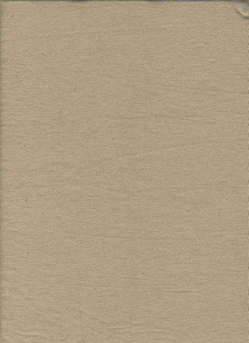 KNT-1869. TAUPE/WHITE KNITS FRENCH TERRY SOLIDS