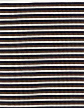 Load image into Gallery viewer, KNT-2053-4X2 POLY RAYON SPANDEX YARN DYE RIB STRIPE