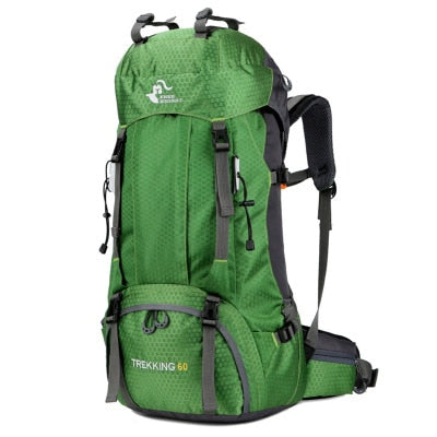 60L Waterproof Polyester  Travel Backpack