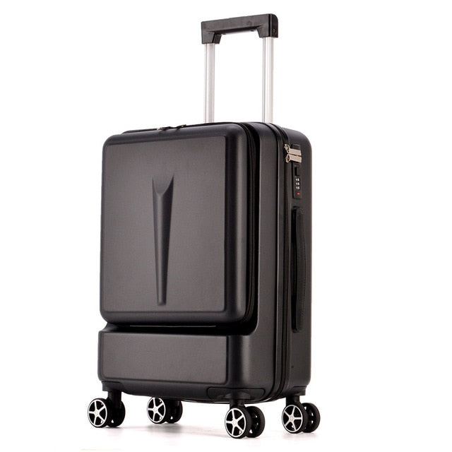 24 Inch Rolling Luggage with Front Pocket