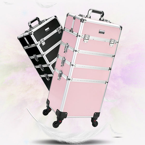 Trolley Cosmetic Bag on Wheel for Women