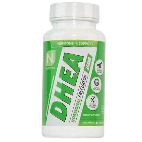 DHEA 100mg 100 Capsules-Nutrakey-GDLKGNZ