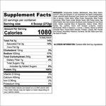 Real Mass 12 Lb Supplement Facts