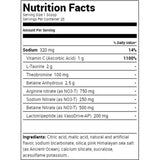 Ryse Blackout Pump Nutrition Facts