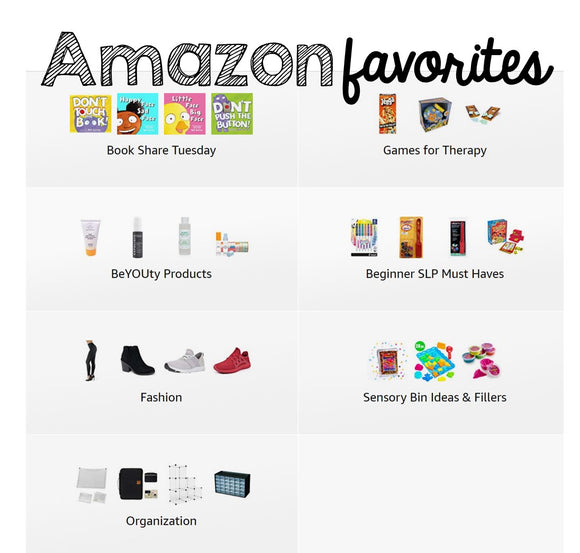 Amazon Favorites for the First-Time SLP