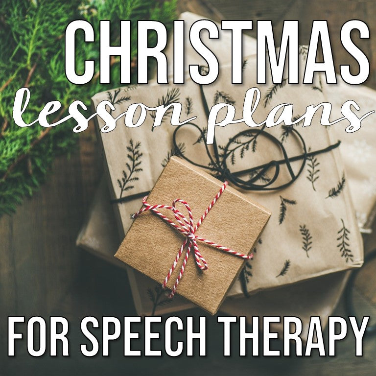 Christmas Themed Lesson Plans for Speech Therapy