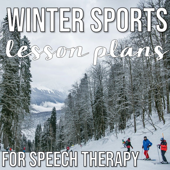 Winter Sports Theme in Speech Therapy