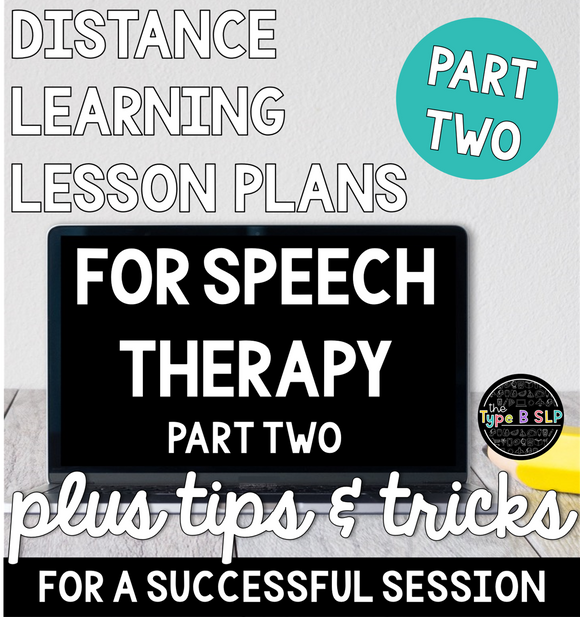 Teletherapy Lesson Plans: Part Two