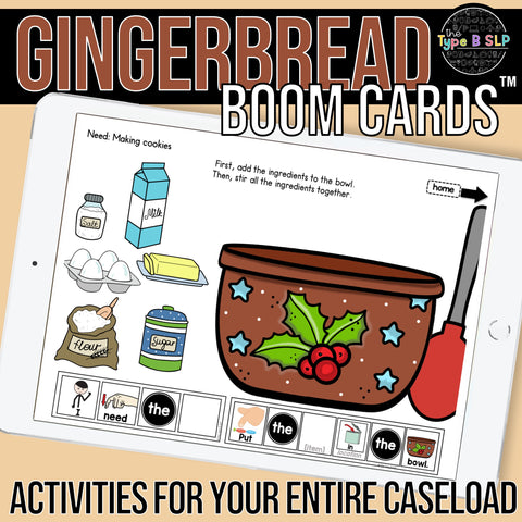 boom cards for gingerbread
