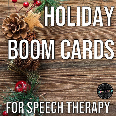 Speech Therapy Holiday Boom Cards