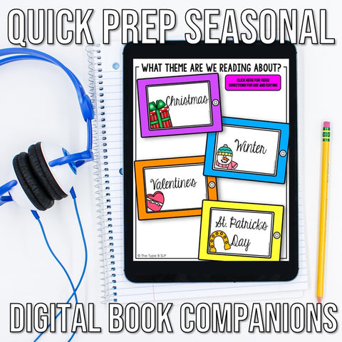 Photo Quick Prep Seasonal Book Companion Digital Slides Menu