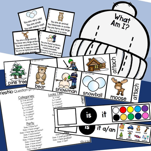 Photo of Winter Inferencing Guessing Game Materials