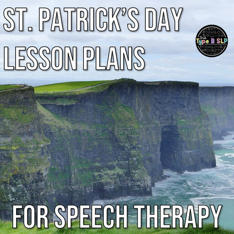St. Patrick's Day Lesson Plans for Speech Therapy