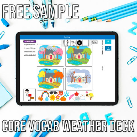 Freebie Core Vocabulary Weather Boom Deck