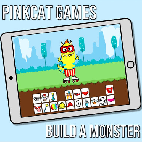 Build a Monster Game on Pink Cat Games