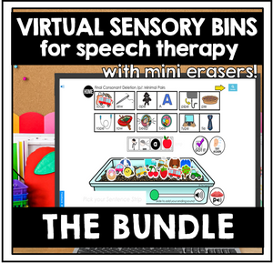 Virtual Sensory Bin Boom Cards™ for Speech Therapy: Articulation and Phonology