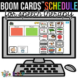 BOOM CARDS™ Virtual Speech Schedule: Visuals for Schedule & Behaviors