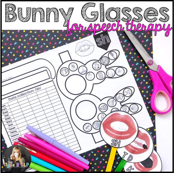 Spring Speech Therapy No Prep Craft: Funny Bunny Glasses