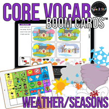 Load image into Gallery viewer, BOOM CARDS™ Core Vocabulary Weather and Seasons Speech Therapy