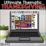 Ultimate Thematic THANKSGIVING UNIT: Distance Learning for Speech Therapy