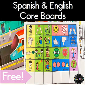 FREE Core Board in English and Spanish