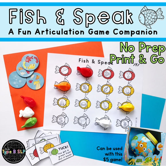 Articulation Game Companion for Speech Therapy: Fish & Speak