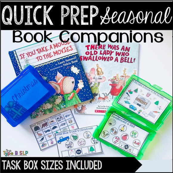 Quick Prep Seasonal Book Companions for Speech Therapy: GROWING BUNDLE