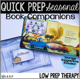 FREE SAMPLE Quick Prep Seasonal Book Companions for Speech Therapy: Mini Winter Sample