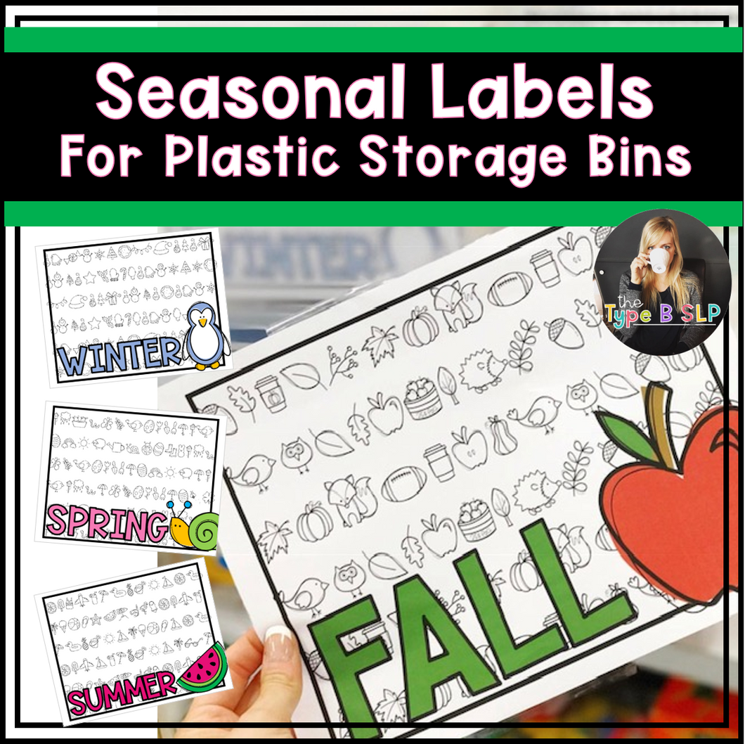 Seasonal Organizers for Plastic Storage Bins
