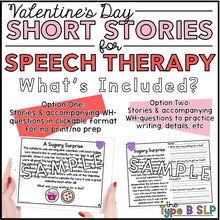 Load image into Gallery viewer, No Prep No Print Valentine's Day Speech: Comprehension Stories