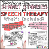 No Prep No Print Valentine's Day Speech: Comprehension Stories
