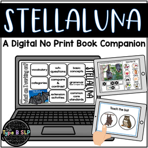 Digital Book Companion for Speech Therapy: Stellaluna Book Companion