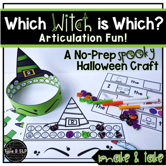 Halloween Articulation No Prep Craft: Which Witch is Which? Headbands