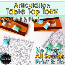 Load image into Gallery viewer, Articulation Game Companion: Table Top Toss