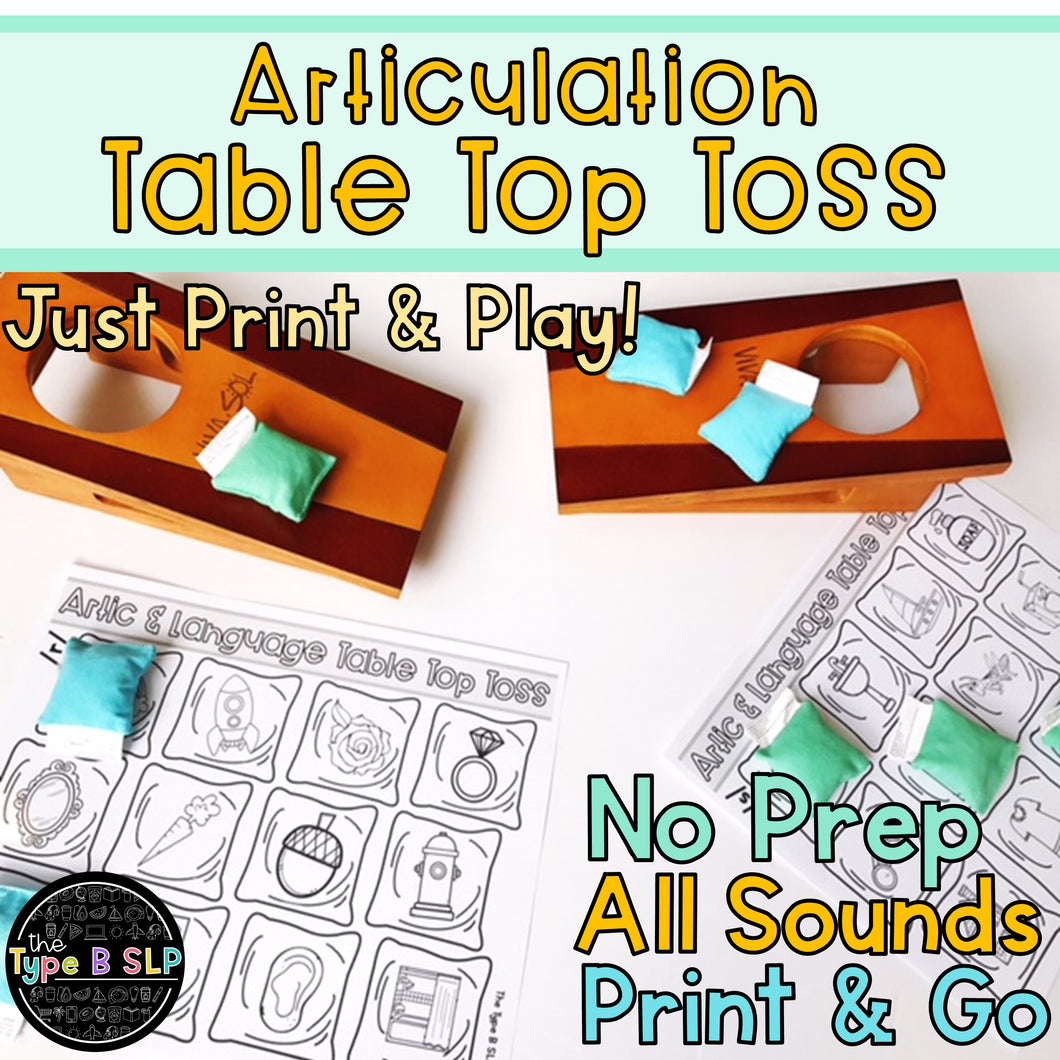 Articulation Game Companion: Table Top Toss