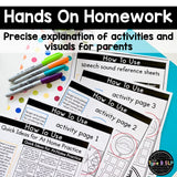 Busy Homework for Speech Therapy BUNDLE: Articulation, Language, Phonology, and Apraxia