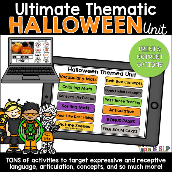 Ultimate Thematic HALLOWEEN UNIT for Speech Therapy