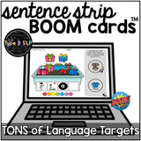 BOOM CARDS™ for Language: Sentence Strips