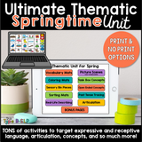Ultimate Thematic SPRING UNIT: Distance Learning for Speech Therapy