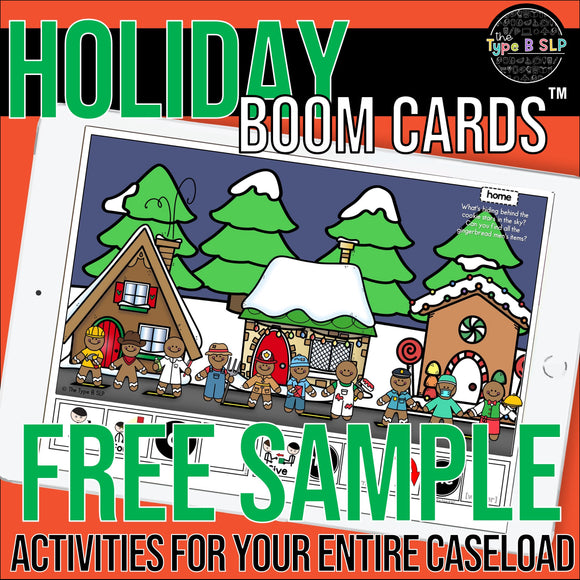 Boom Cards: Holiday Sentence Strips FREE SAMPLE