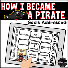 Load image into Gallery viewer, Digital Book Companion for Speech Therapy: How I Became a Pirate Book Companion