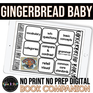 Digital Book Companion for Speech Therapy: Gingerbread Baby Book Companion