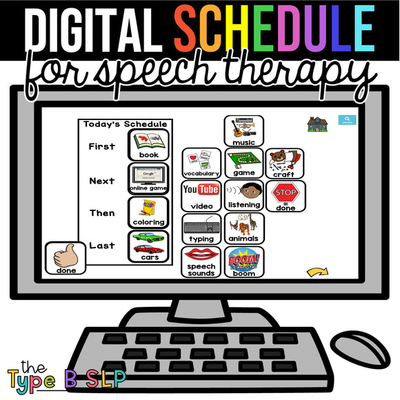 Speech Schedule: Virtual Visuals for Schedule & Behaviors | Boom Cards and Google Slide!