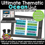Ultimate Thematic OCEAN UNIT: Distance Learning for Speech Therapy